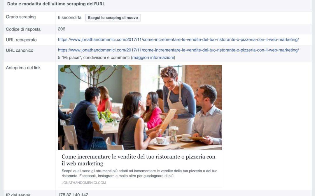Problemi immagine anteprima con articoli WordPress pubblicati su Facebook: ecco come risolvere