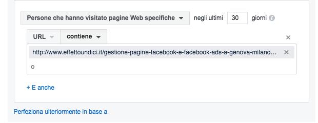 and o or facebook pubblici personalizzati