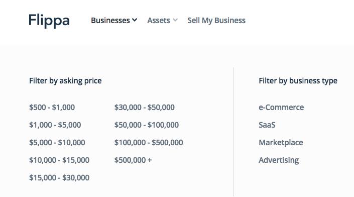Comprare un sito web con Flippa.com