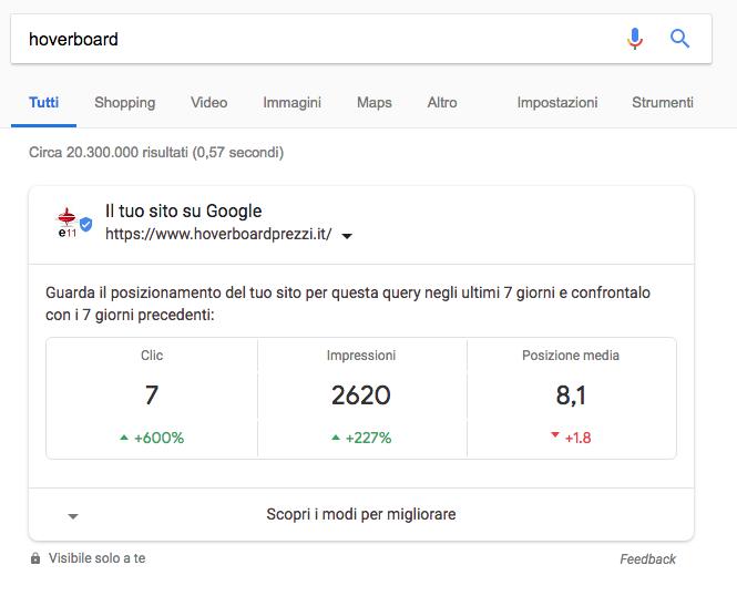console search su google