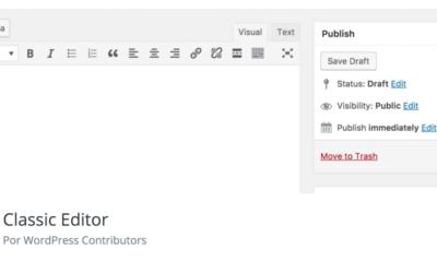 Eliminare Gutenberg e tornare al Classic Editor con WP