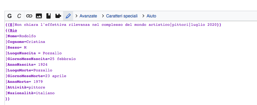 creare pagina wikipedia