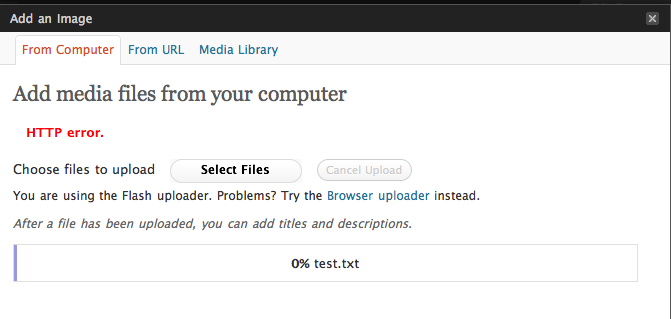 Errore HTTP WordPress: risolvere con la compressione immagini