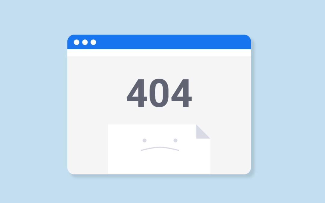 Pagine 404: cosa fare e come imparare a gestirle
