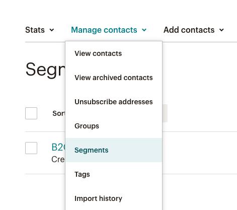 segments mailchimp