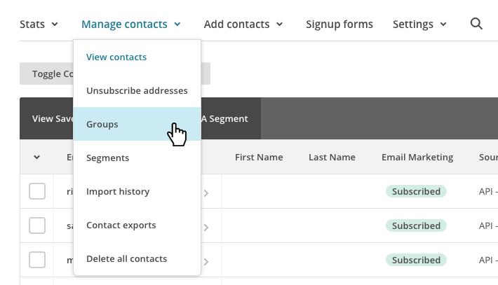 Segmentare liste su MailChimp