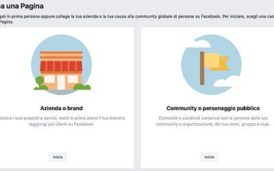 Ecco tutti gli step necessari per creare la tua pagina facebook