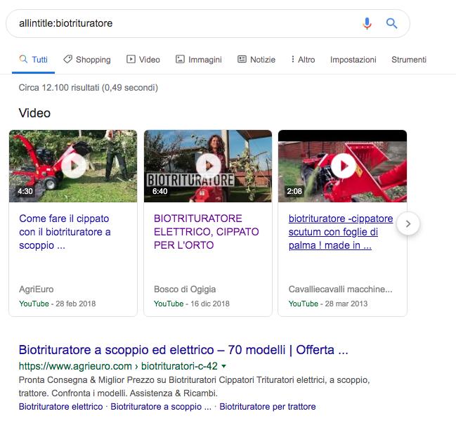 operatori avanzati ricerca google