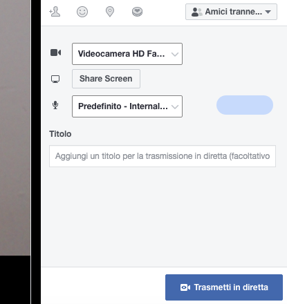 facebook diretta